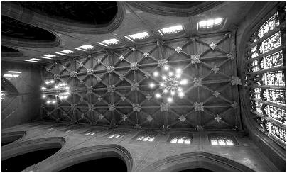 (5A)    The ceiling of Rotherham Minster