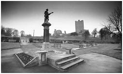 (3M)   War memorial next to Conisbrough Castle