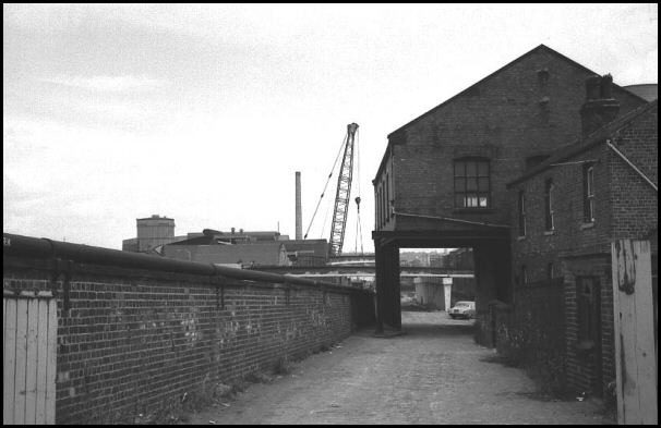 Building next to canal in 1971