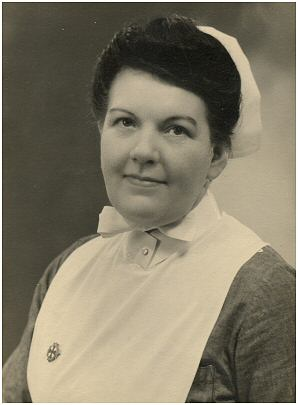 This is Ivy Hacking  probably when becoming a fully qualified nurse. Photo: Ken & Barbara Carr